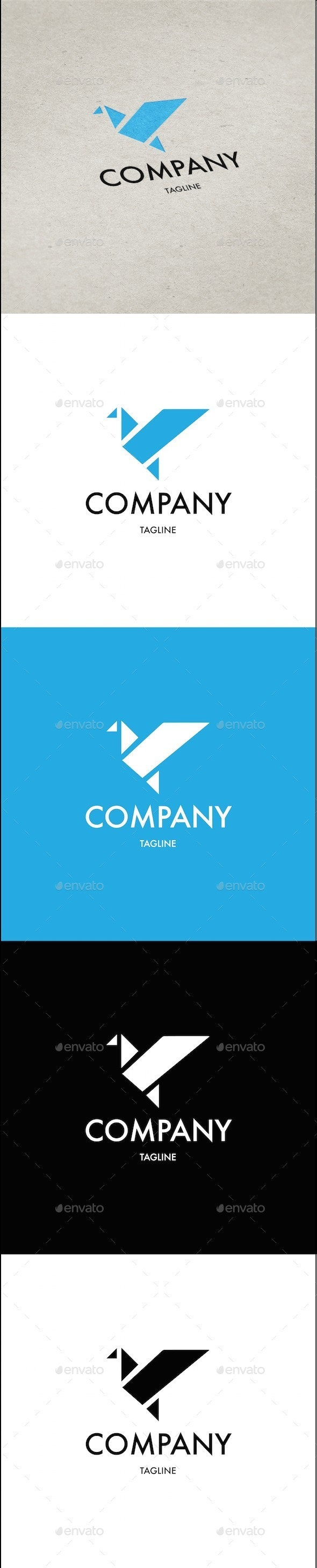 Origami Bird Logo Template - Animals Logo Templates