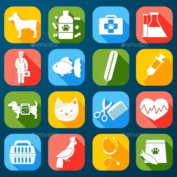 Veterinary Icons Set - Miscellaneous Icons