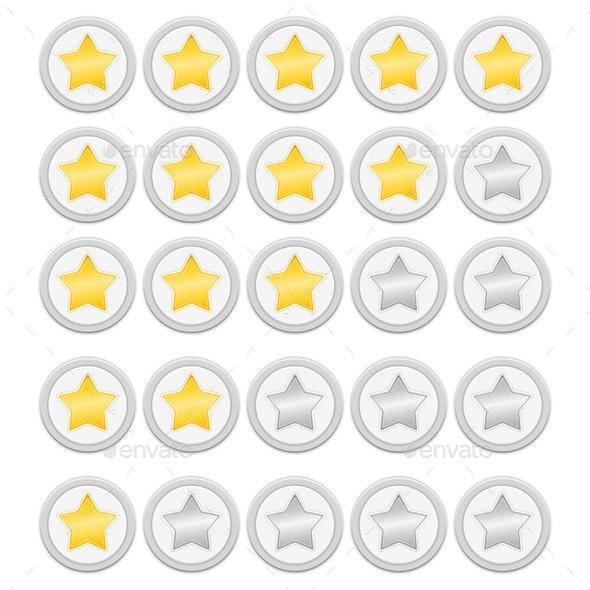 Rating Stars - Web Elements Vectors