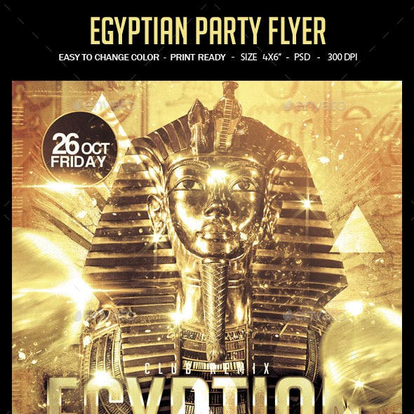 Egyptian Night Party Flyer