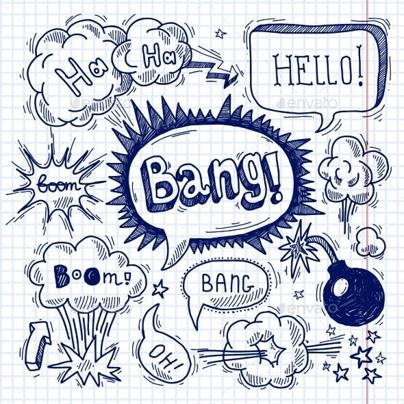 Comic text bubble blank - Miscellaneous Vectors
