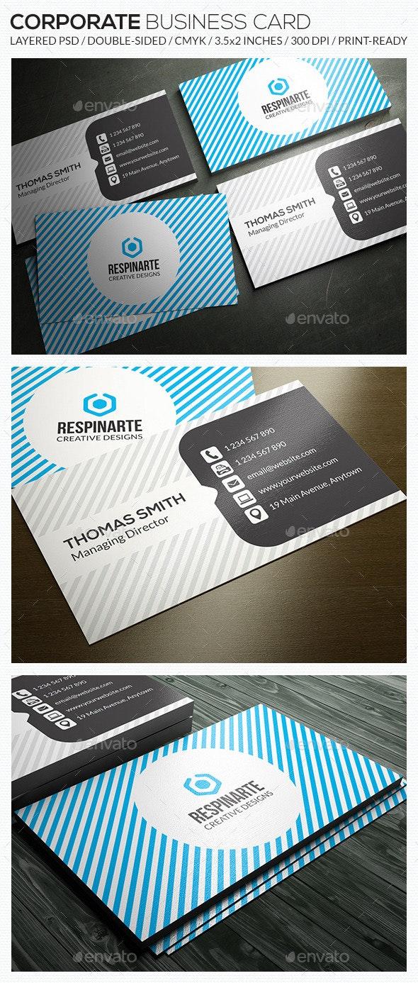 Corporate Business Card - RA64 - Corporate Business Cards