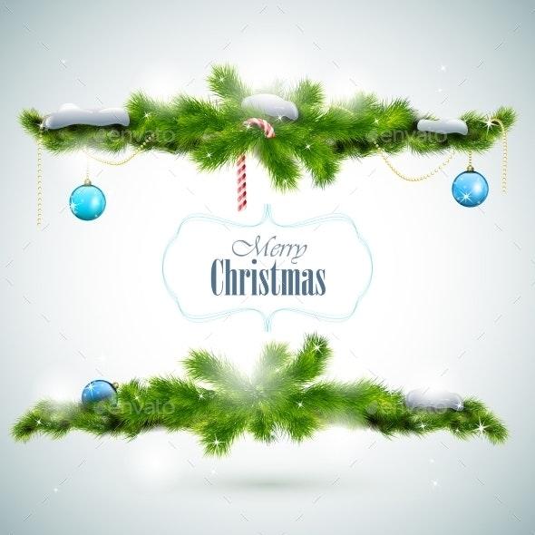 Merry Christmas Shiny Greeting Card - Christmas Seasons/Holidays