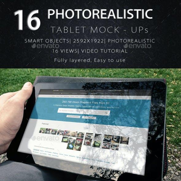 Photorealistic Tablet/Laptop Mock-Ups