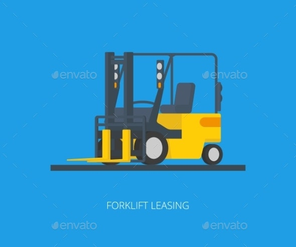 Yellow Forklift - Services Commercial / Shopping