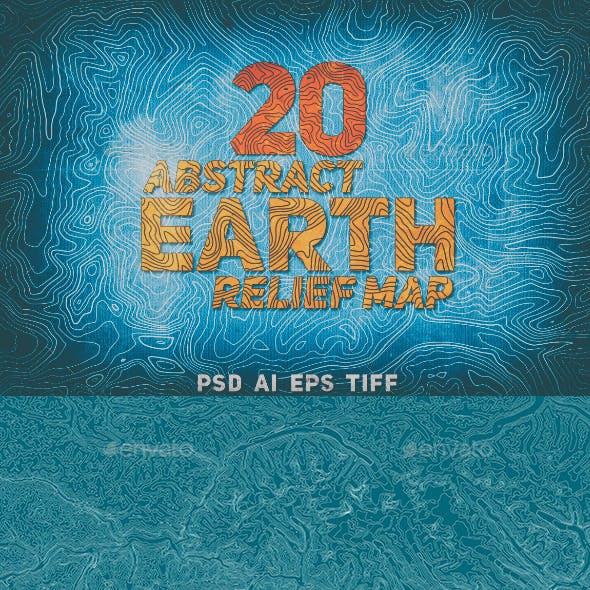 20 Abstract Earth Relief Maps