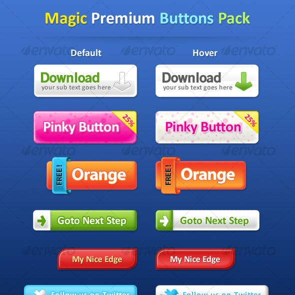 Magic Premium Buttons Pack 7 Buttons