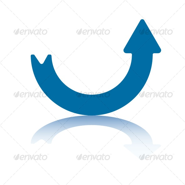 Curve Arrow - Up - Decorative Symbols Decorative