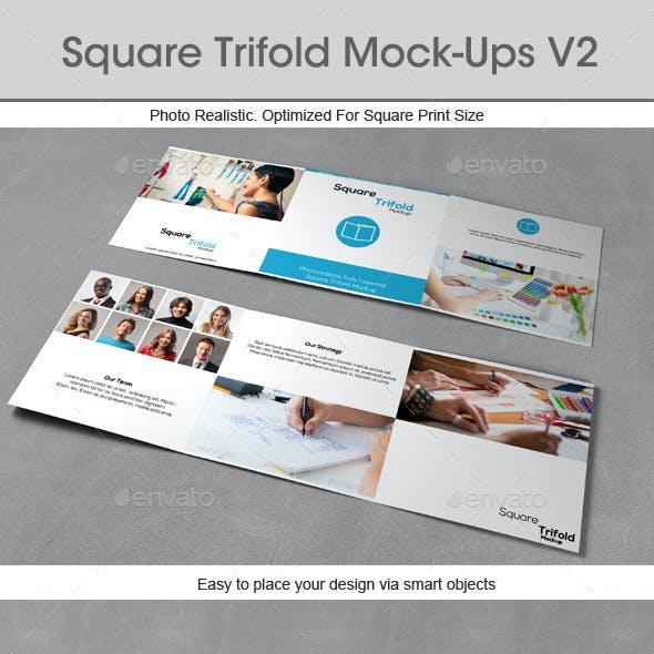 Square Trifold Mock-ups v2