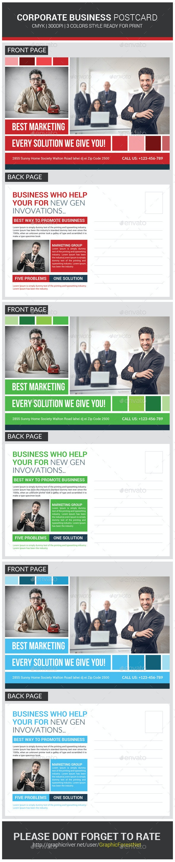 Ultimate Multiuse Business Postcard  - Cards & Invites Print Templates