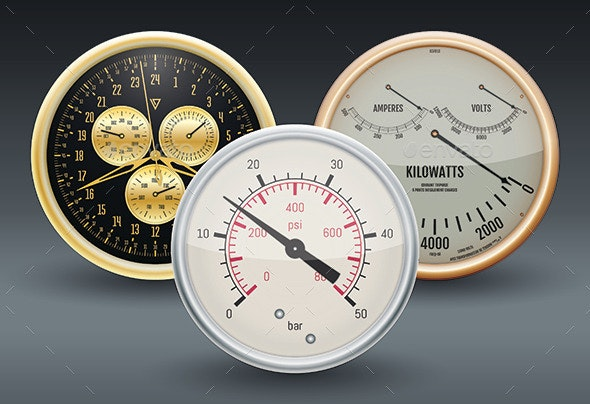 Gauges - Man-made Objects Objects