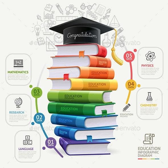 Books Step Education Infographics - Infographics