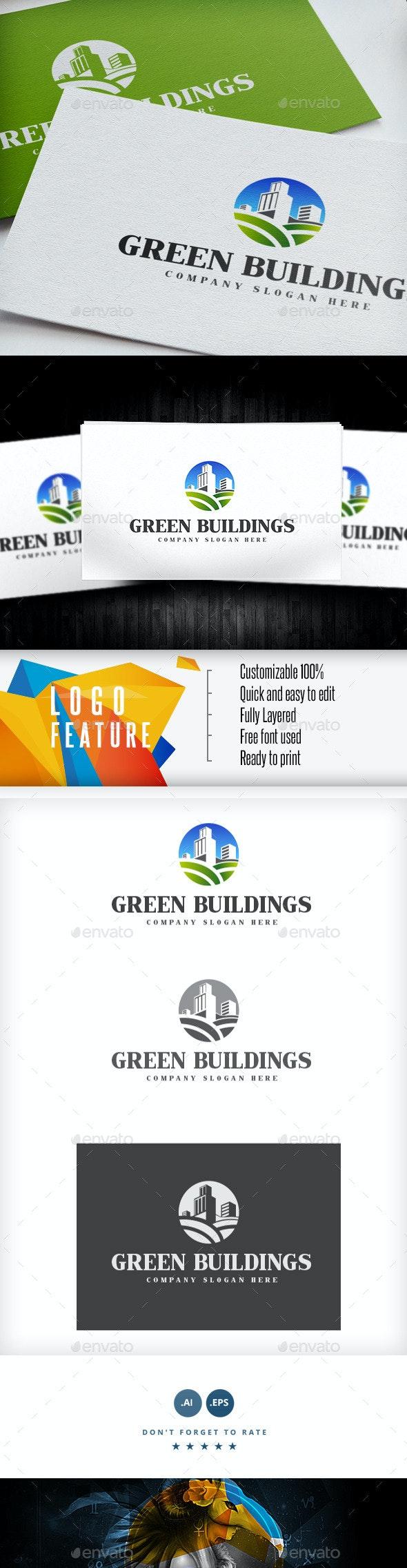Green Buildings Logo - Logo Templates