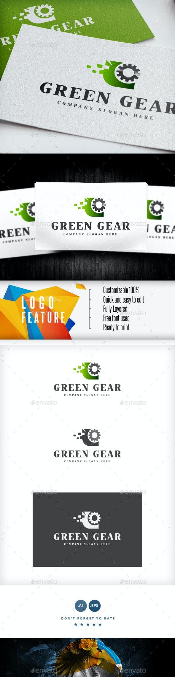 Green Gear Logo - Logo Templates