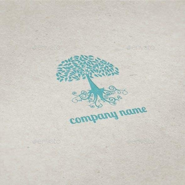 Swirly Tree Logo Template