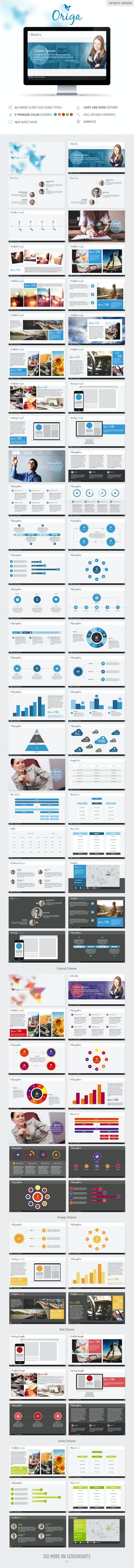 Origa Keynote Presentation Template - Business Keynote Templates