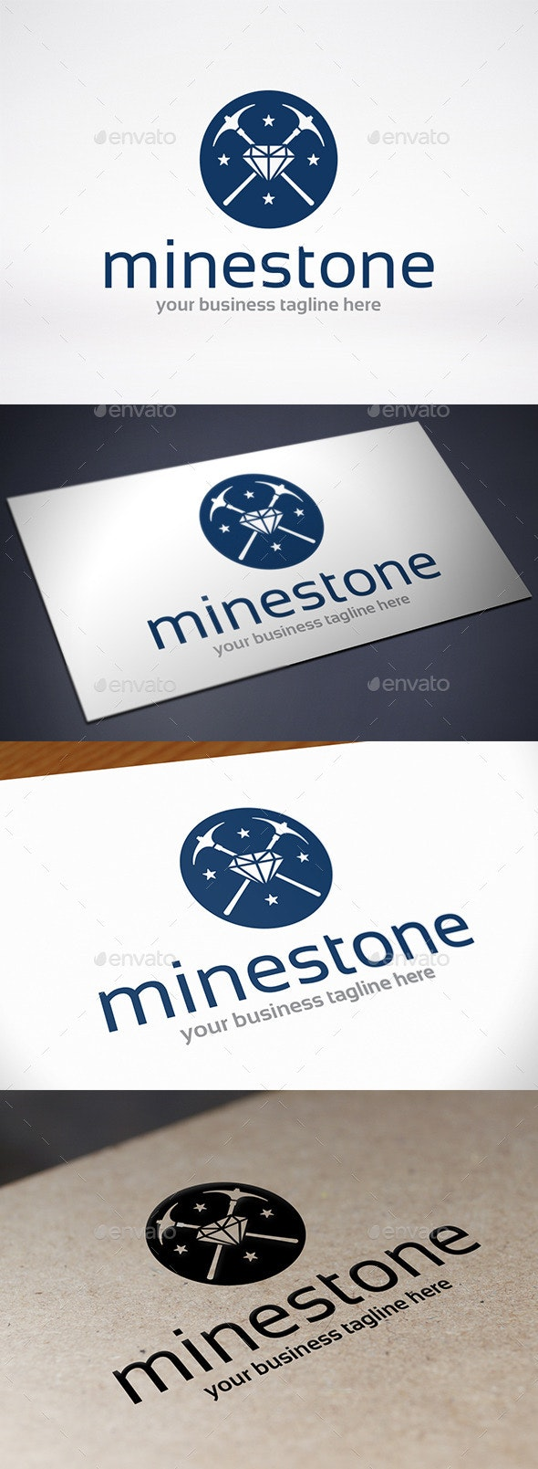 Stone Mining Logo Template - Symbols Logo Templates