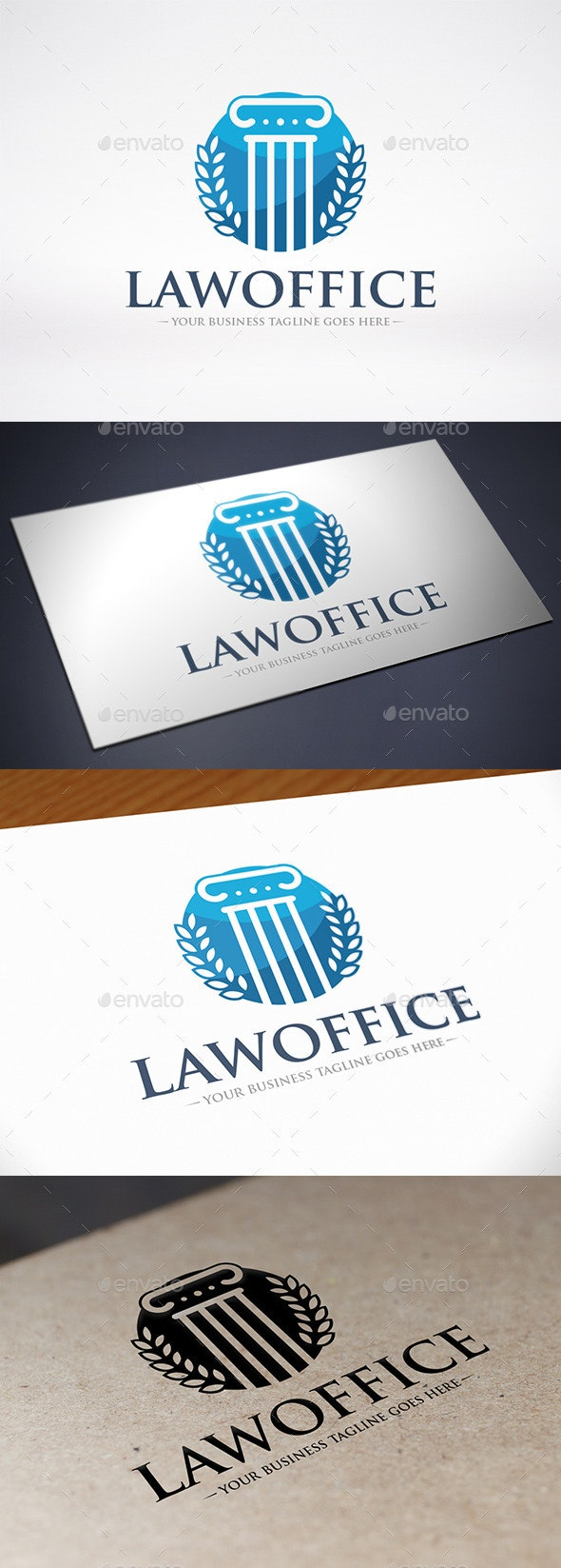 Law Firm Column Logo Template - Buildings Logo Templates