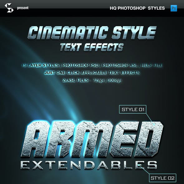 Cinematic Style Text Effects