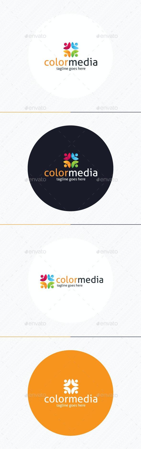 Color Media Logo - Humans Logo Templates