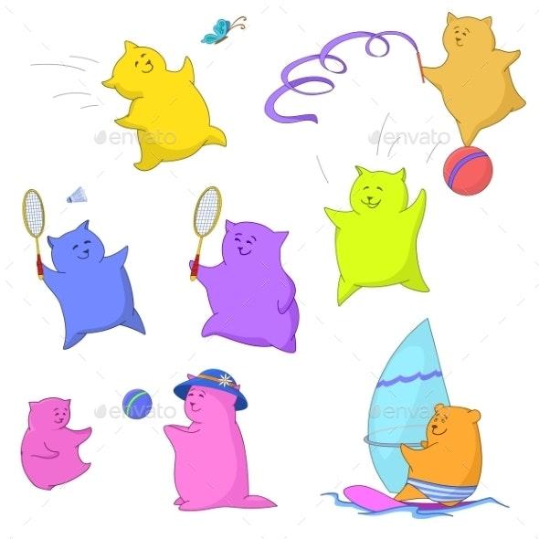 Teddy Bears, Sport - Sports/Activity Conceptual