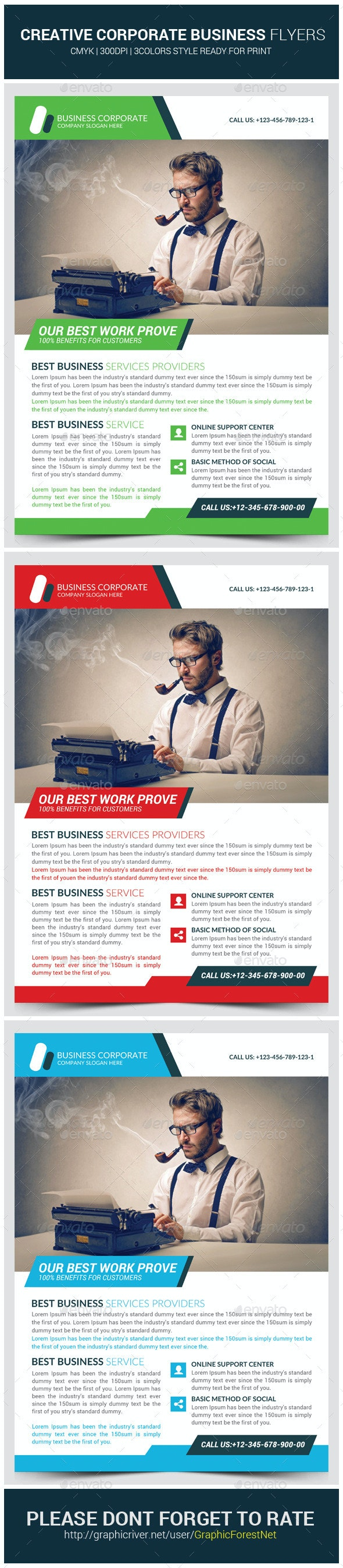 Creative Agency Corporate Flyer Template - Corporate Flyers
