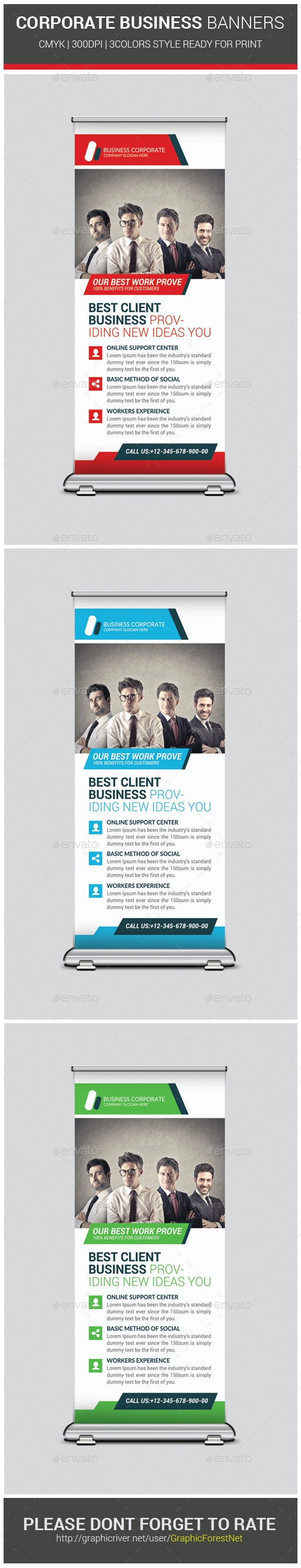 Corporate Agency Business Banners Template - Signage Print Templates