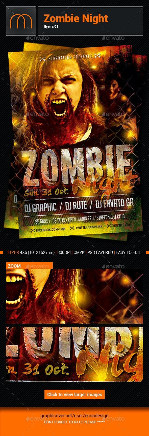 Zombie Night-v02 - Events Flyers