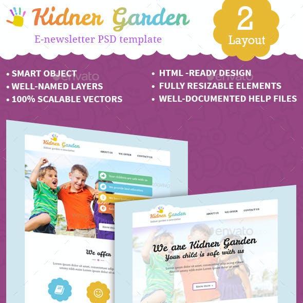 Kidnergarden e-newsletterPSD Template