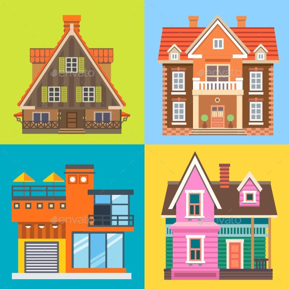 Various Buildings or Houses - Buildings Objects