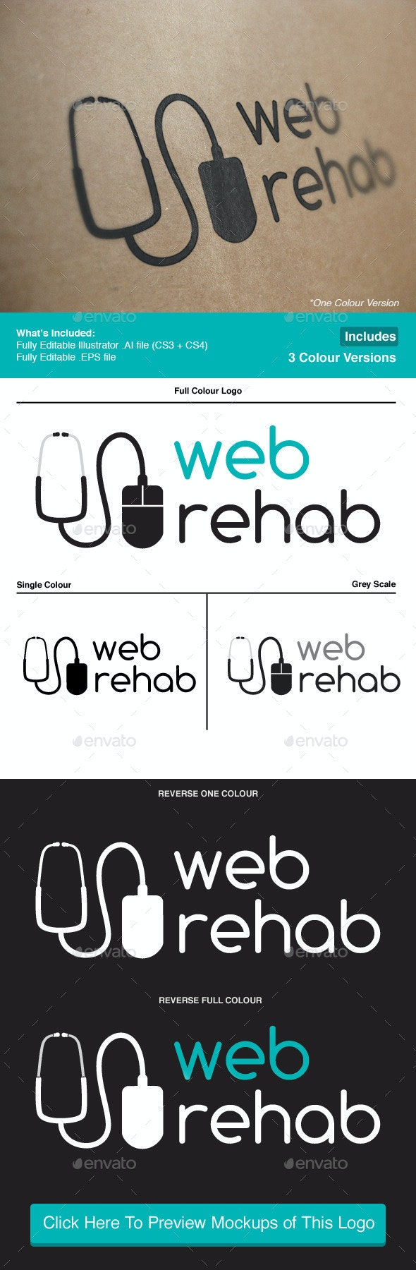 Web Rehab IT Solutions Logo - Objects Logo Templates
