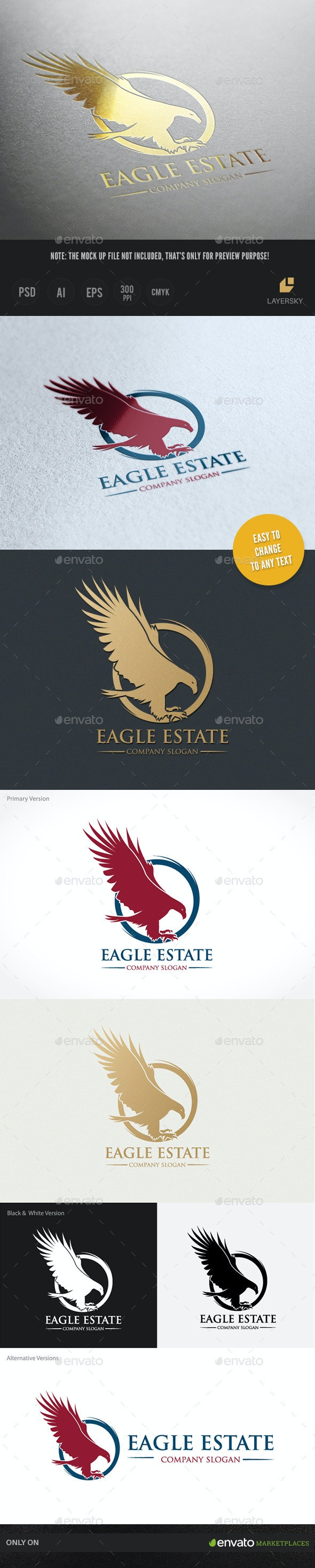 Eagle Estate - Crests Logo Templates