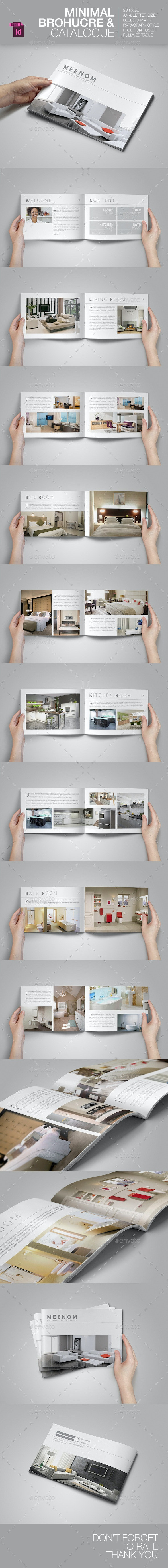Minimal Brochure & Catalogue - Brochures Print Templates