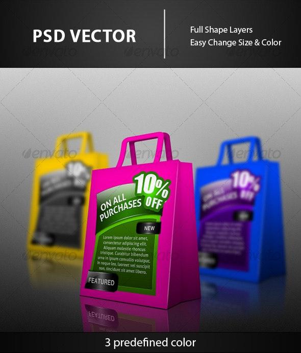 Colorful Bags - Web Elements