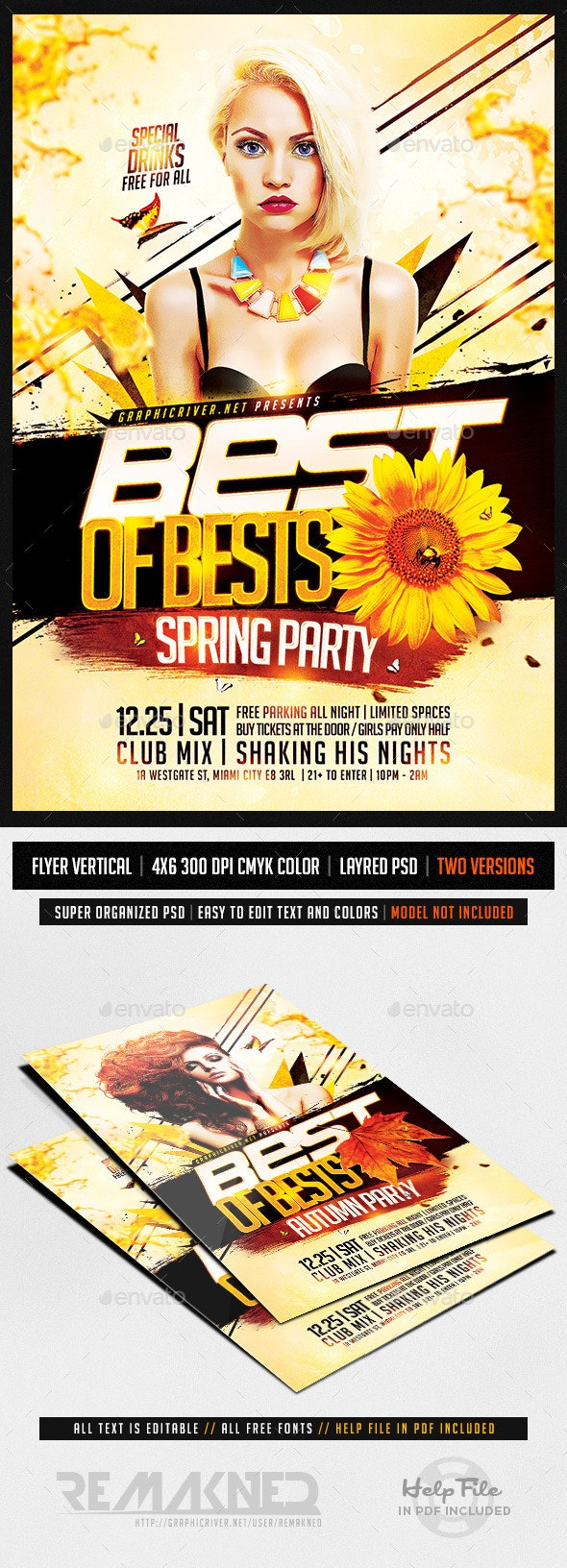 Bests Music Station | Flyer Template PSD - Flyers Print Templates