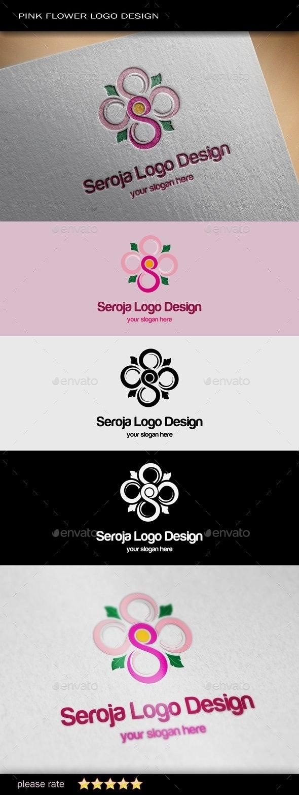Pink Flower Logo Template - Nature Logo Templates