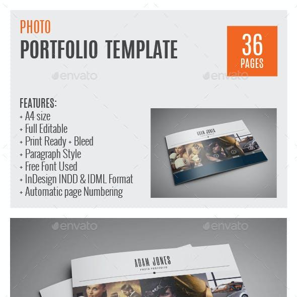 Photo Portfolio A4 InDesign Template 0010