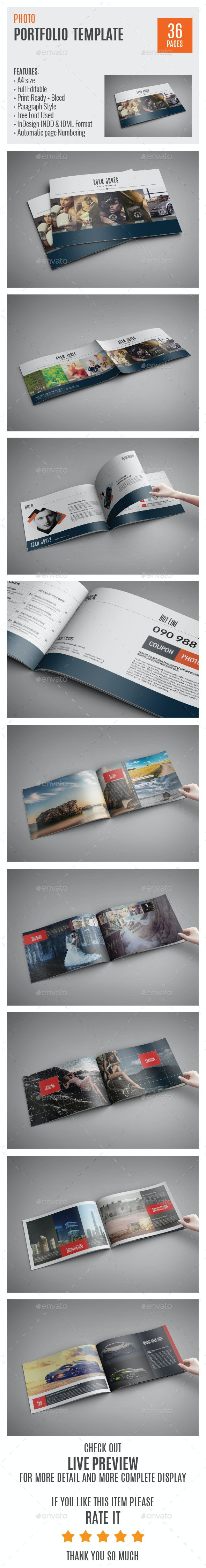 Photo Portfolio A4 InDesign Template 0010 - Portfolio Brochures