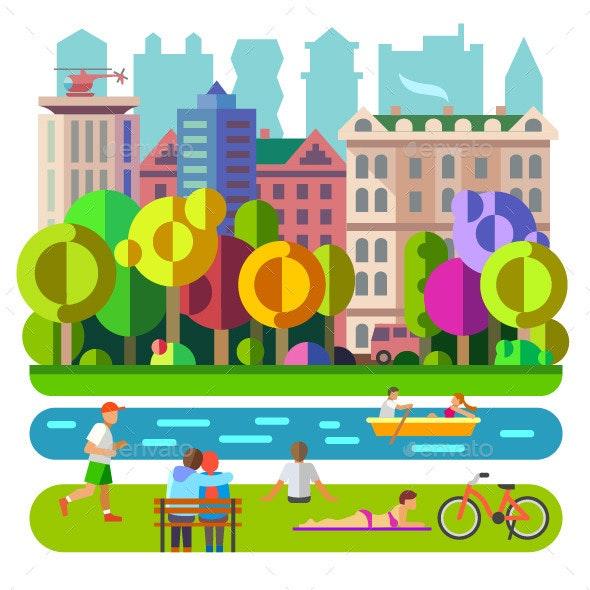 City Park Recreation - Landscapes Nature