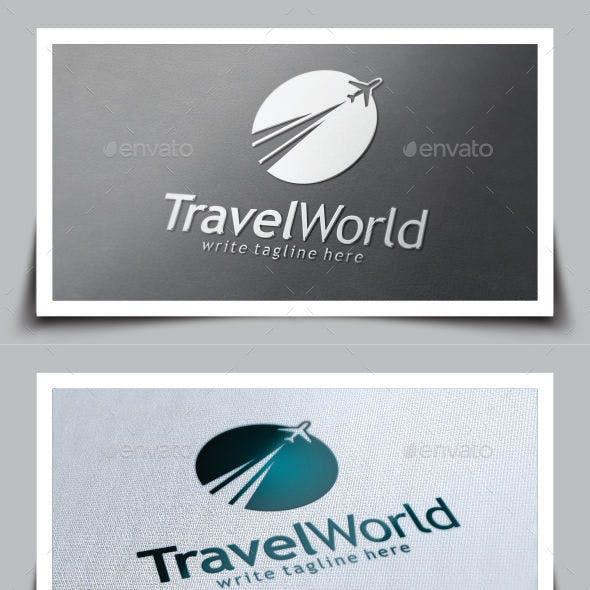 Travel World Logo Template
