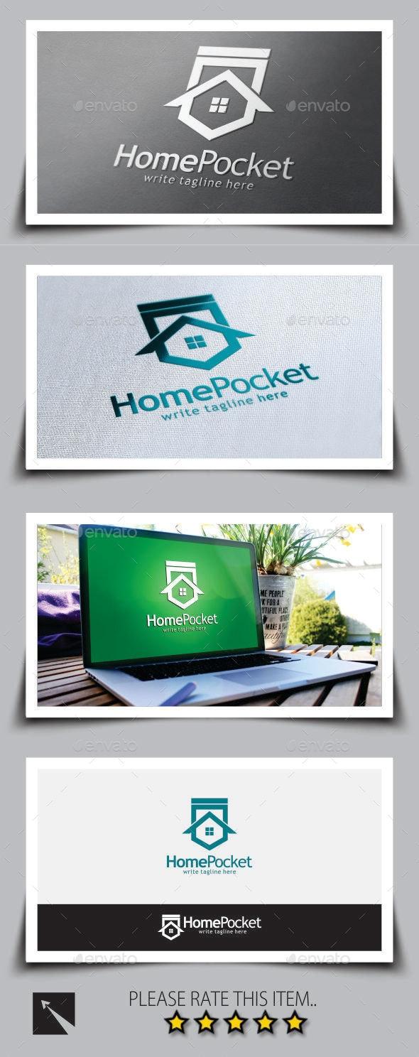 Pocket Homes Logo Template - Buildings Logo Templates
