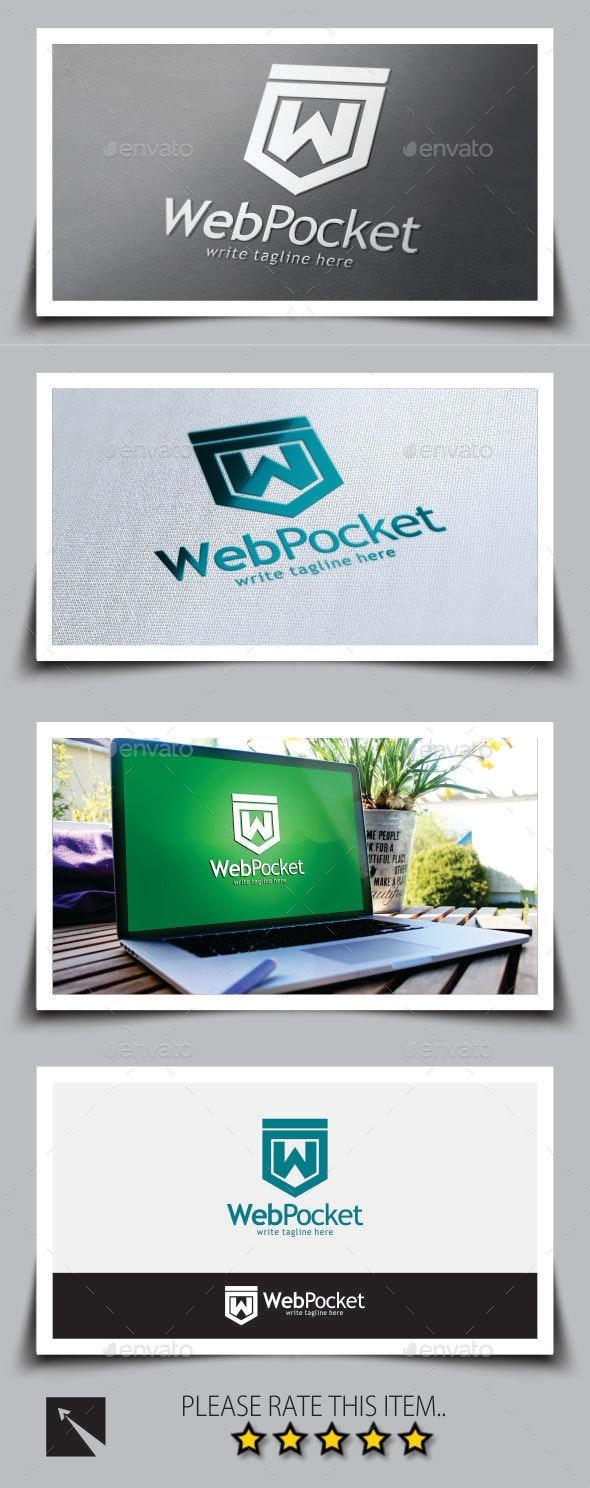Web Pocket Logo Template - Letters Logo Templates