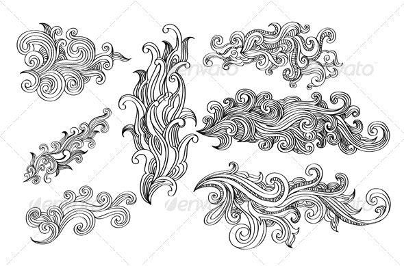 Swirls Design Elements - Flourishes / Swirls Decorative