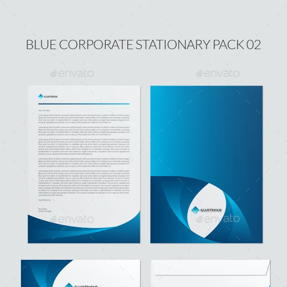Blue Corporate Stationary Pack 02