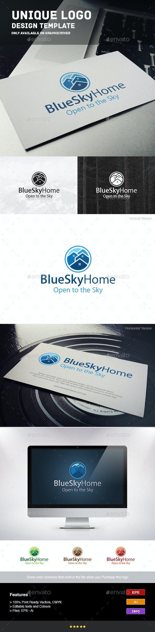 Home Sky - Buildings Logo Templates
