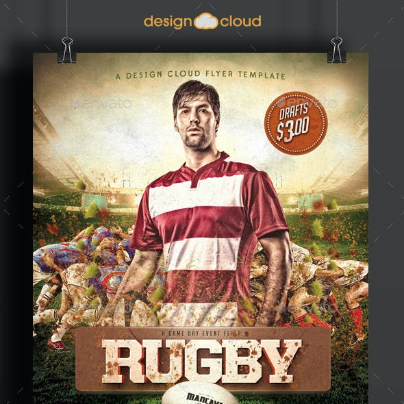 Rugby Game Day Flyer Template