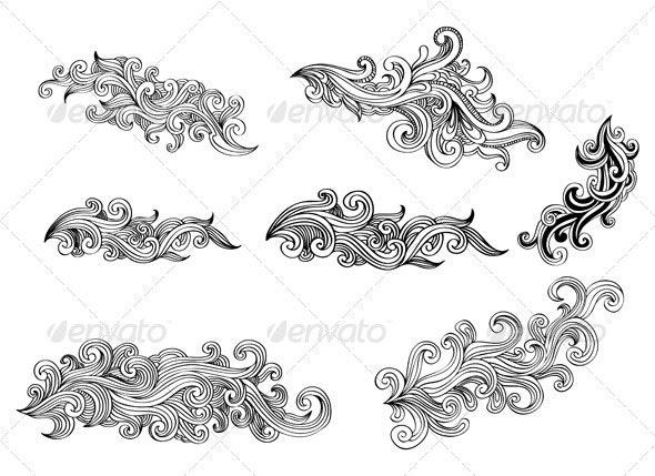 Swirls Design Elements 02 - Flourishes / Swirls Decorative