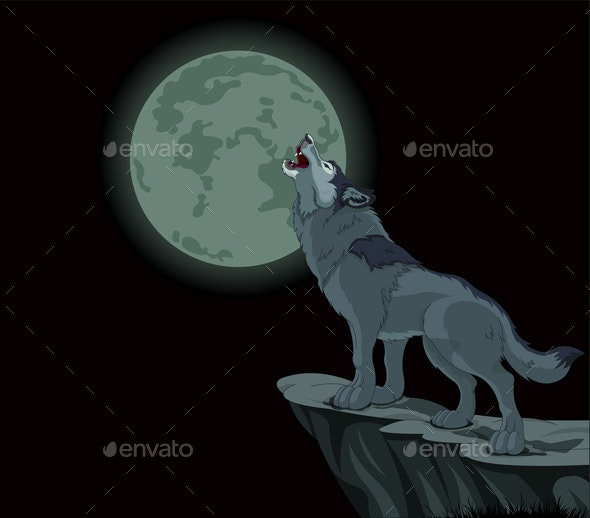 Howling Wolf Vector - Animals Characters