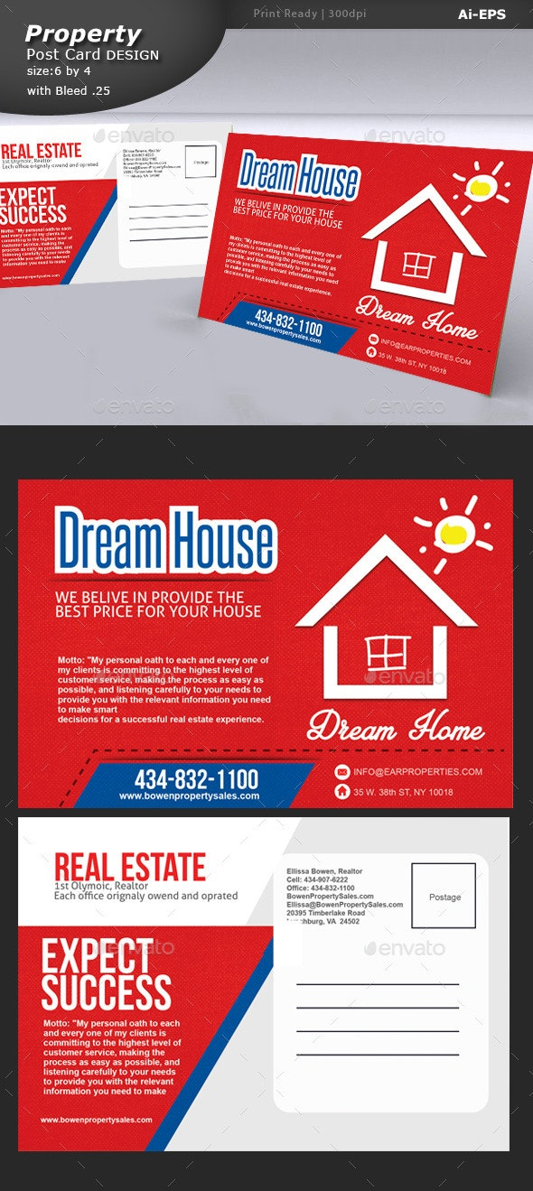 Property Post Card Design  - Clubs & Parties Events