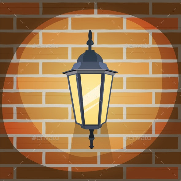 Lantern On The Wall - Man-made Objects Objects